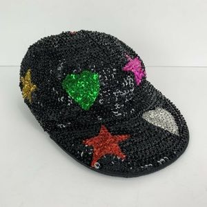Sequin City Vintage Star Heart Sequined Hat